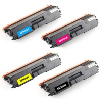 Brother TN336 (TN-336) 4 Pac - Black, Cyan, Magenta, Yellow, High Capacity New, Compatible Cartridge