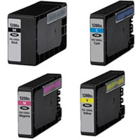 Canon Compatible InkJet Cartridge PGI-1200XL - 4 Value Pac - Full Set