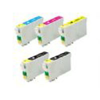 Epson T126 Valu_Pac Compatible Cartridges 2 Black and 1 of each colour