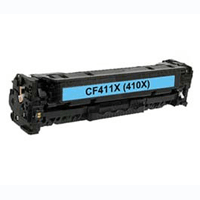 HP Compatible CF411X (410X) Cyan High Capacity Toner Cartridge