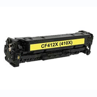 HP Compatible CF412X (410X) Yellow High Capacity Toner Cartridge