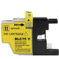 Brother Compatible InkJet Cartridge LC71 LC75 High Capacity Yellow Cartridge