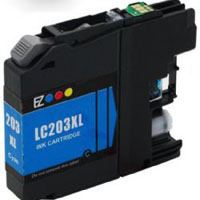 Brother Compatible InkJet LC203XL LC-203XL Cyan High Capacity Cartridge