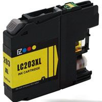 Brother Compatible InkJet LC203XL LC-203XL Yellow High Capacity Cartridge